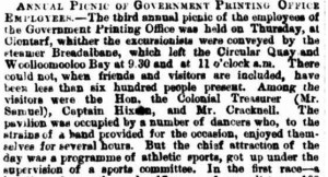 section of article published by Sydney Morning Herald on Saturday 4th June 1870