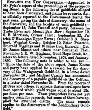 A BILL. (1861, January 11). Mount Alexander Mail (Vic. : 1854 - 1917), p. 3. Retrieved December 1, 2015, from http://nla.gov.au/nla.news-article199606821